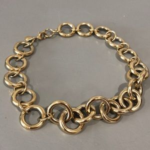 J. Crew gold ringed necklace